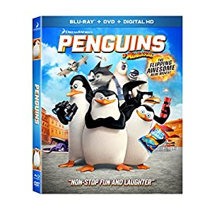 Penguins of Madagascar Blu-ray w/ Family Icons Oring (2015)