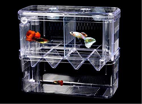 2 room hatch box suspend aquarium arcylic guppy baby small fish separation breeding box auto f   breeding box, breeding box