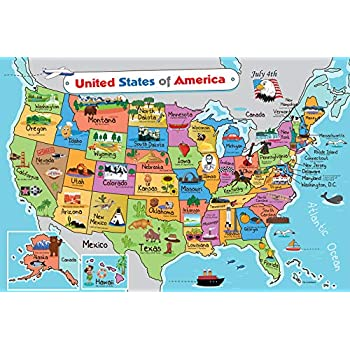 Amazon.com: Kids United States Map | Wall Poster 13"|350|350|?|ae34dffaf19df8c77e980ab837da488e|False|UNLIKELY|0.3720497786998749