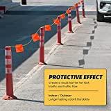 164 Feet Safety Warning Pennant Marker with 45