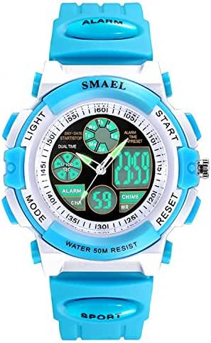 Siniya Kids Watch Quartz Watch Waterproof Swimming Sports Watch Boys Girls Led Digital Watches for Kids