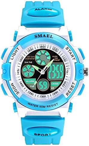 Siniya Kids Watch Quartz Watch Waterproof Swimming Sports Watch Boys Girls Led Digital Watches for Kids