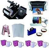 3in1 Pro Sublimation Heat Press Machine Epson Printer C88 CISS KIT
