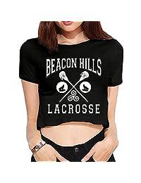 Women's Beacon Hills Lacrosse Crop Top Navel T Shirt