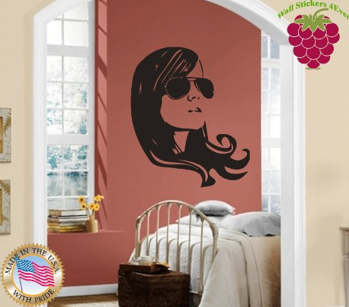 Wall Stickers Vinyl Decal Sexy Chick In Sunglasses ig1021 ()