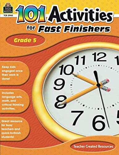 (101 Activities For Fast Finishers Grade 5: Grade 5)