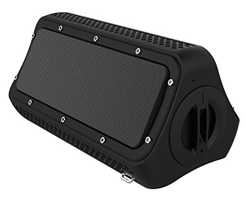 Bluetooth Speakers, FLYZOE Portable Wireless Stereo IP55 Waterproof & Dustproof with Built-in 4400mAh Rechargeable Battery