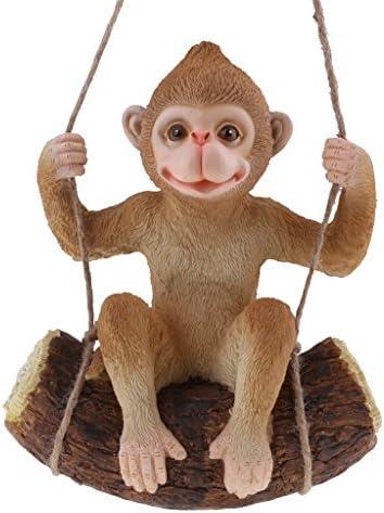 Amazon.es: F Fityle Columpios De Resina Animales Decoración De Jardín Adornos Decoración para El Hogar Figuras Pastorales - Mono marrón: Juguetes y juegos