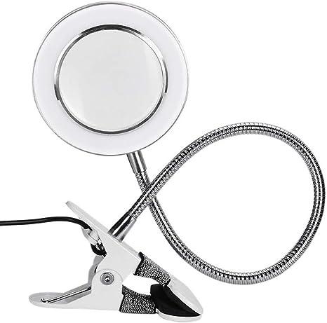 8X Lámpara Lupa de Mesa Estética con LED, Luz Fría, Herramienta de ...