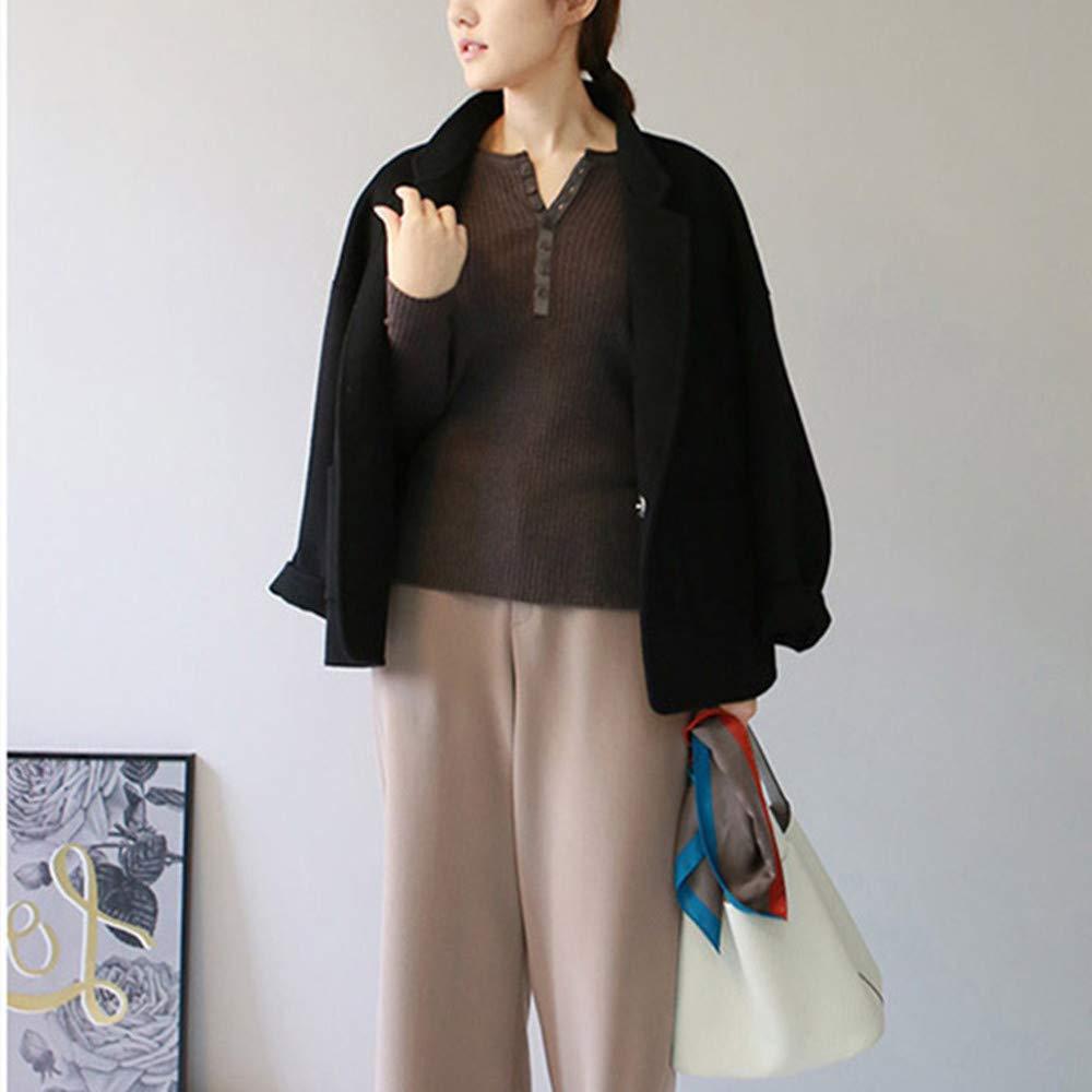 LUCKFUR Manteaux de Laine pour Femmes Trench Coat Vêtements pour Femmes Automne/Hiver Long Fur Coat A