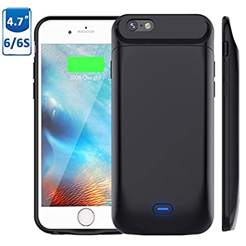 5000mAh Battery Case for iPhone 6S/6, Vproof Rechargeable External Battery Portable Power Charger Protective Charging Case for Apple iPhone 6,6S (4.7 Inch) (Iphone 6 Case With Metal)