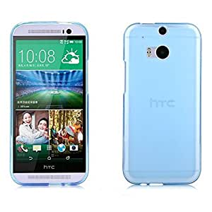 Protectora brillante TPU Pudding nuevo caso para HTC M8 (Color: azul claro )