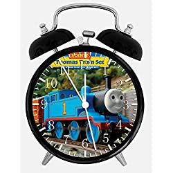 Thomas Train Twin Bells Alarm Desk Clock 4 Home Office Decor W68 Nice for Gifts