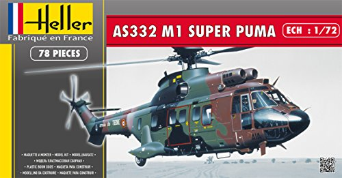 Heller Super Puma AS 332 M1 Helicopter Model Building Kit