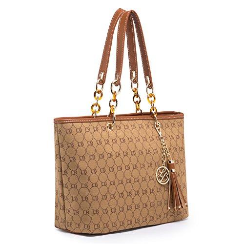 Lola Benson Sale (getthatbag) Limited Edition Brown Starr Damier / Beige Damier / Monogram Logo Bag Shopper Totes Shoulder Bags With Free Purse Brown Logo