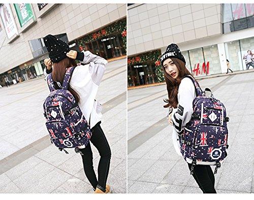 Leisure Teenagers Boys Rucksack Shoulders Canvas Girls Women Daypacks Cotton Men 5 Bag Backpacks Fabric Fashion Outdoor YvO0nXxx