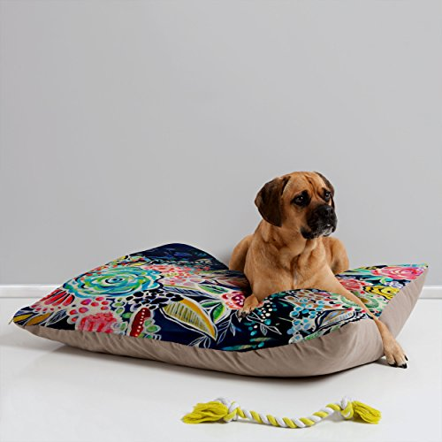 Deny Designs Stephanie Corfee Night Bloomers Pet Bed, 40 by 30-Inch