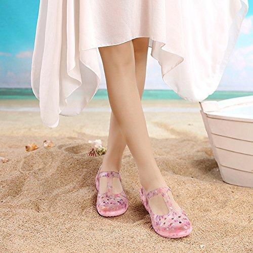 Mujeres Playa Zapatillas Antideslizante Colores Formas Gelatina 5 Las 230 Pantofola De PENGFEI Usar 2 1 Ocio Zapatos Verano EU36 Sandalias US6 Dos 2 De Tamaño Color De UK4 OZW58Yn