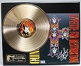 GUNS N ROSES SLASH GOLD LP LTD EDITION REPRODUCTION SIGNATURE RECORD DISPLAY