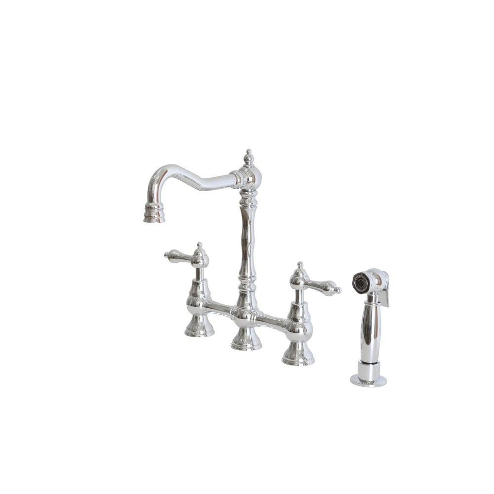 kitchen belle handle foret n dual faucet the crespo b with chrome sprayer single kraus down pull function kpf depot home in faucets