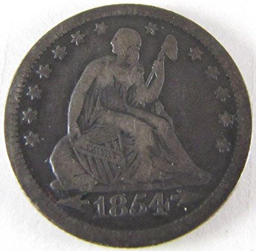 1854 Seated Liberty Quarter Very Good