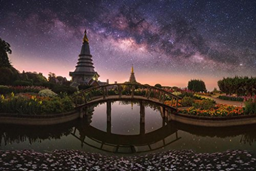 Twin Royal Pagodas Phra Mahathat Naphamethanidon Photo Art P