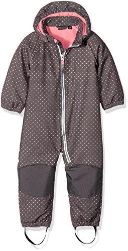 NAME IT Mädchen Schneeanzug Nitalfa M Softsh Suit Dot FO 316, Grau (Rabbit), 98