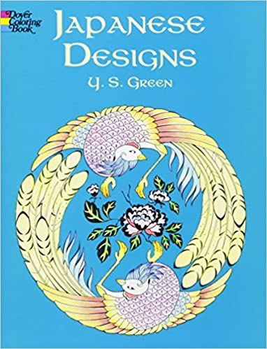Japanese Designs Dover Design Coloring Books Y S Green 0800759423774 Amazon
