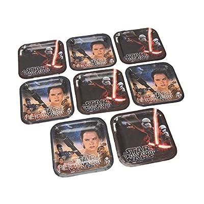 Star Wars Episode VII Assorted Square Plates, 7