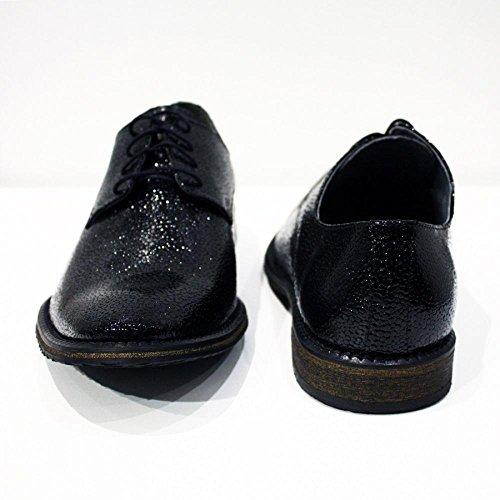 1830e1705b0 Modello Biella 2 Cuero Italiano Hecho A Mano Hombre Piel Negro Zapatos  Vestir Oxfords Cuero Ante Encaje Para barato Sale Wiki Venta Mejor