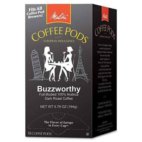 MELITTA USA 75412 Coffee Pods, Buzzworthy (Dark Roast), 18 Pods/Box ()