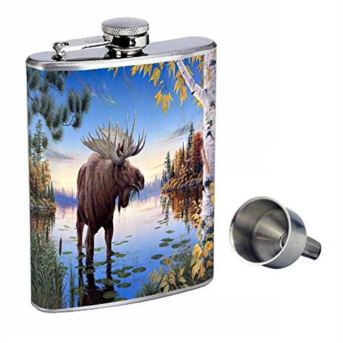 人気大割引 ムースPerfection inスタイル8オンスステンレススチールWhiskey Flask Flask with B017HT73EC Free Funnel d-004 d-004 B017HT73EC, ビーレジェンド【公式】Real Style:c52cebc2 --- preocuparse.me