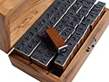 YPSelected Set 70pcs Vintage Style Wooden Rubber Alphabet Letters Number Stamps (Handwriting Style)