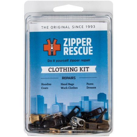 Zipper Rescue, Zipper Repair Kit, Clothing (Plastic Jacket Zipper)