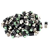 uxcell® 100 Pcs Screw Terminal Coaxial Cat5 to BNC Male Jack Video Balun Connector