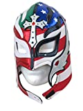 rey mysterio mask red - Rey Mysterio Adult Lucha Libre Wrestling Mask (pro-fit) Divided Heart Mex-USA
