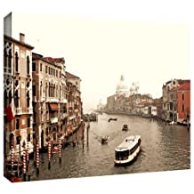 Art Wall Grand Canal from Rialto Gallery Wrapped Canvas Artwork by Linda Parker, 36 by 24-Inch