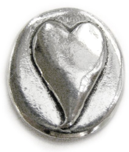 Basic Spirit Heart/Love Pocket Token (Coin) * Handcrafted Pewter Lead-Free CN-11