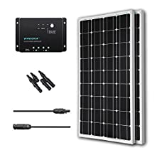Renogy 200W 12V Monocrystalline Solar Bundle Kit Mono-PWM