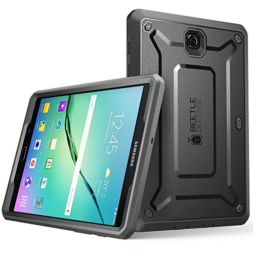 Galaxy Tab S2 8.0 Case, SUPCASE [Heavy Duty] Case for Samsung Galaxy Tab S2 8.0 Tablet [Unicorn Beetle PRO Series] Rugged Hybrid Protective Cover w/Builtin Screen Protector Bumper (Black/Black) (Samsung Galaxy Glove S2 Case Body)