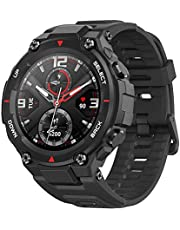 Amazfit T-Rex Smartwatch with12 Military Certifications,20-Day Battery Life,Tough Body,1.3'' AMOLED Display,5 ATM Water-Resistant,14 Sports Modes, Rock Black