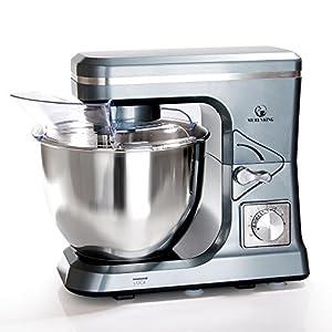 MURENKING Stand Mixer MK36 500W 5-Qt 6-Speed Tilt-Head Kitchen Food Mixer with Accessories