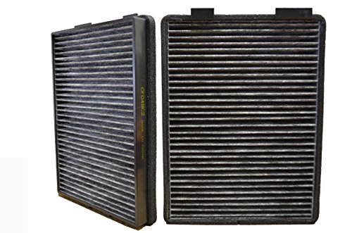 PT Auto Warehouse CF048C2 - Cabin Air Filter - Carbon, 1 Set with 2 Filters