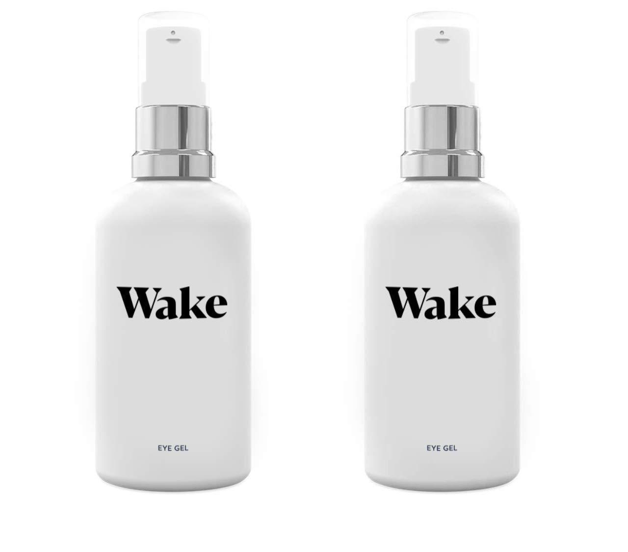 Wake Skincare Eye Gel - Hydrating Eye Serum for Puffy Eyes, Dark Circles, Eye Bags, Crows Feet and Wrinkles - Vitamin E - Collagen - 30ml Anti Ageing Eye Cream (2 Pack) by Wake (Image #2)