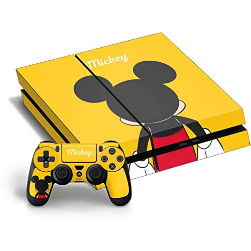 Mickey Mouse PS4 Horizontal Bundle Skin - Mickey Mouse Backwards Vinyl Decal Skin For Your PS4 Horizontal Bundle