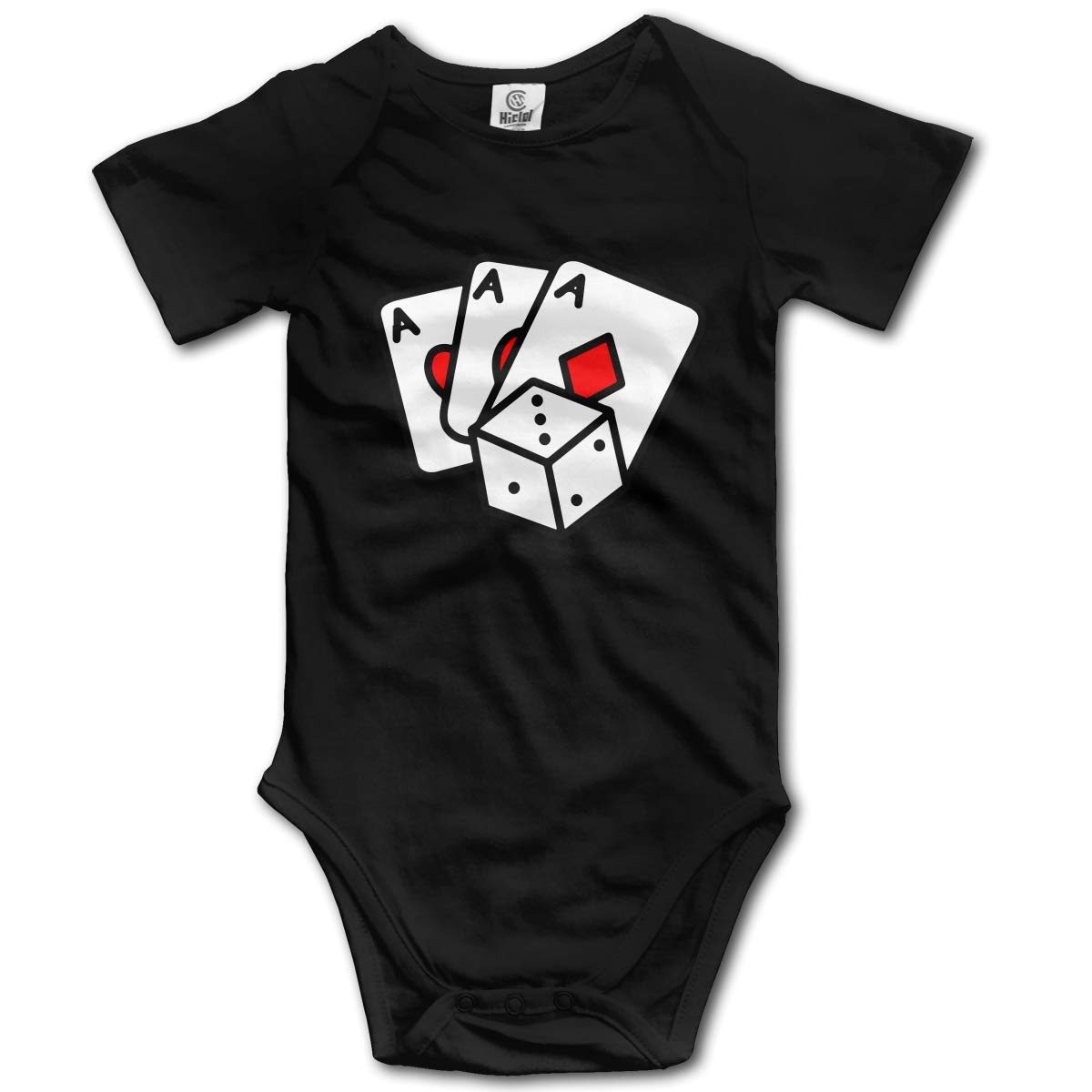 J122 Poker Cards Suit 6-24 Months Baby Short Sleeve Climbing Clothes