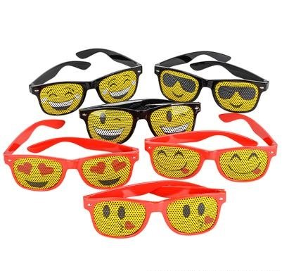 MESH EMOTICON SUNGLASS EMOJI SMILE SUNGLASSES 12 PIECES, 1 DOZEN