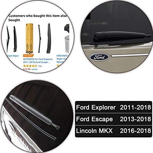 AUTOBOO Rear Windshield Wiper Blade for Ford Explorer 2011-2018,Ford Escape 2013-2018,Lincoln MKX 2016-2018,OE:BB5Z17526C
