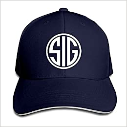 b1dbdbb828f769 Amazon.com: Sports Sig Sauer Snapback Hat Navy Sandwich Peaked Cap  (6311343480805): Books