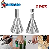 DOMOM Deburring External Chamfer Tool for Drill Bit - Stainless Steel Remove Burr Tools for Drill Bit(2 Pack)